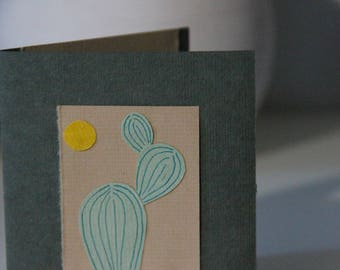 Blank Cactus Desert Greeting Card