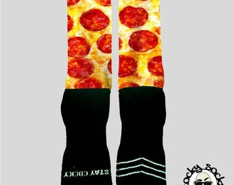 Pepperoni Pizza Socks || FREE SHIPPING ||