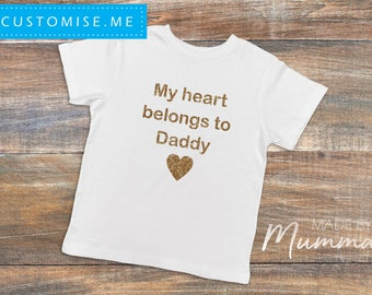 Valentine's Day, Custom Children's T-Shirt, Personalised Infant T-Shirt, Custom Baby Onesie, Personalised Bodysuit