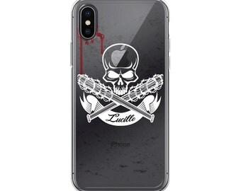 Negan & Lucielle the walking dead fan art iPhone Case