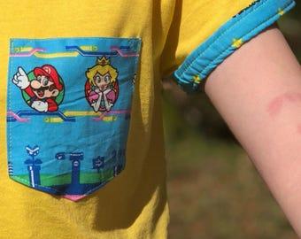 Mario and Peach Pocket Shirt