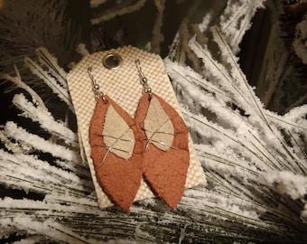Custom Wire Work Leather Earrings