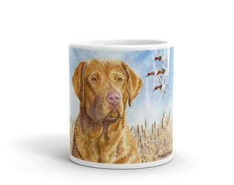 Here They Come Chesapeake Bay Retriever 11oz Coffee Mug