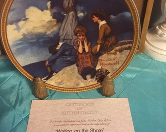 Norman Rockwell Plate-Waiting on the Shore