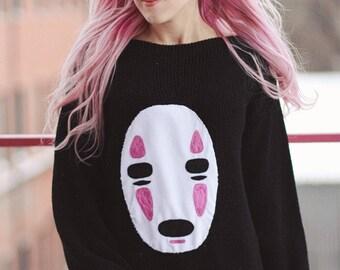 Spirited Away No Face Kaonashi handknit dress and sweater