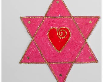 Star of David with Heart