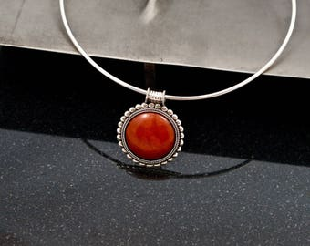 Red Moon Rising 925 Silver Necklace