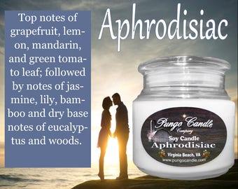 Aphrodisiac Scented Soy Jar Candle (16 oz.)