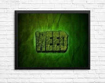 Weed Limited Edition Wall Art