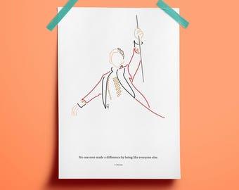 The Greatest Showman fan art, Hugh Jackman fan art, King of humbug drawing, Circus poster, P. T. Barnum celebration