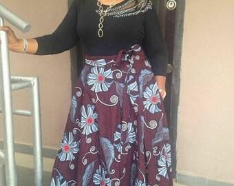 Eunice Handmade African Print Maxi Skirt