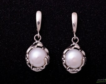 Pearl earrings with silver 925