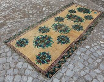 rare anatolian nomadic rug handknotted turkish rug Free Shipping 4.2 x 8.9 ft. bohemian wool rug home decor aztec rug ethnic rug MB387