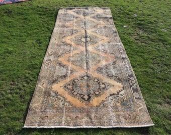 Unique runner area rug, 4.2 x 11.1 ft. Free Shipping turkish rug, bohemian rug, hall design rug, anatolian floor rug, wool rug, MB587