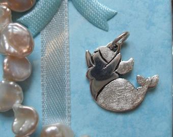 Mermaid pendant 925 sterling silver, Molly Mermaid 4, delighted, manga, Sea, Ocean, lake, fish, whale, cute, sweet