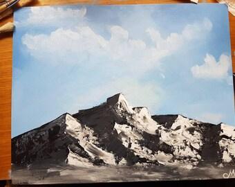 Mountain range painting