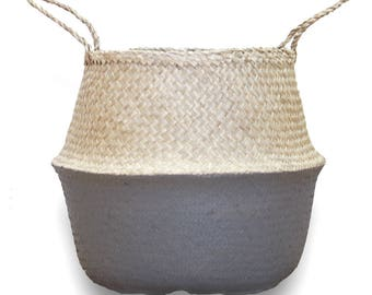 Gray Belly Basket - Medium