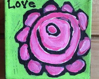 Rose painting Love
