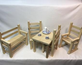 Wood Doll Furniture Set