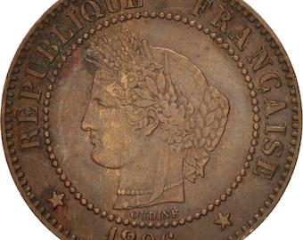 france cérès 2 centimes 1896 paris ef(40-45) bronze km827.1