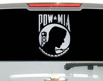Brushed Aluminum POW MIA Veteran Military