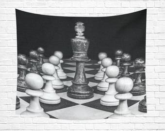 "Chess Wall Tapestry 60""x 51"""