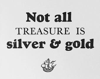 Treasure Letterpress Print