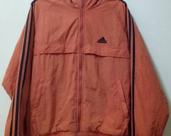 BIG SALE !!! Adidas 3 Stripe Hooded Windbreaker Jackets