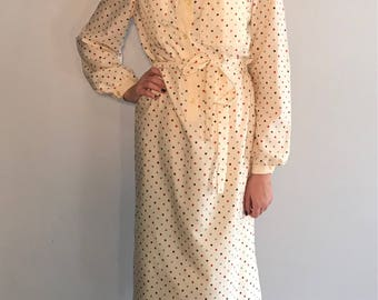Vintage 70's Secretary Shirt Dress