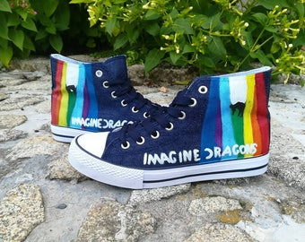 Imagine Dragons Evolve shoes hand painted