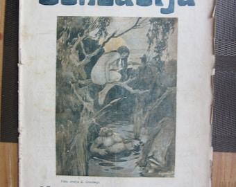 "y1925 Erotic cover  Humor Magazine "" Senzacija"" from Latvia"