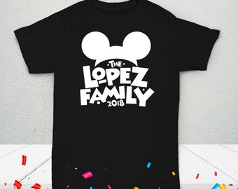 Kids' Disney Mouse Personalized Family T-Shirt - Celebration Custom Tees