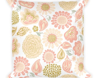 Coolin-Square Pillow,Flower,Bloom,USA, Printful