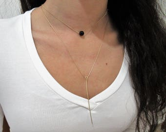 Long and elegant clean style necklace