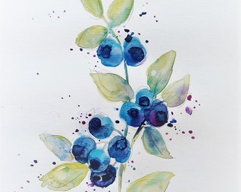 Watercolor, giclee print on high quality watercolor paper