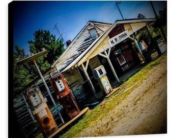 Abandoned Gas Station Canvas- Jessica Mason Photography