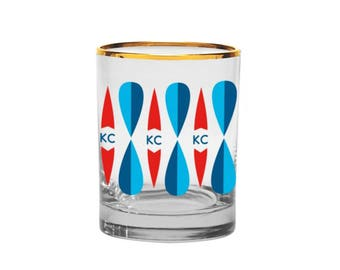Kansas City Mid-Century Modern Old Fashioned Glass // Bunker KC