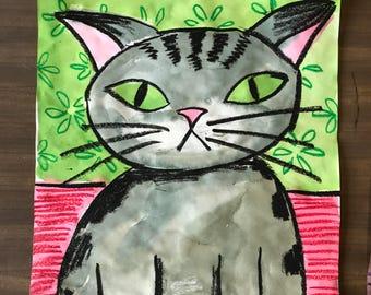 Pattern Cat, grey