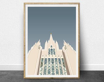 San Diego LDS Temple Illustration