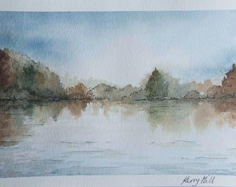 Bolam Lake, reflections.