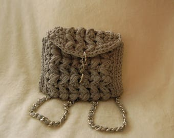 Luxurious handmade gray backpack