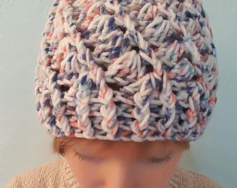 Spiral crocheted hat