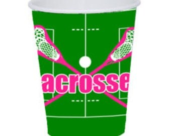 9 oz 18 count Lacrosse paper cups pink