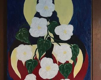 Moon Flowers - 12 x 16 original oil on board.