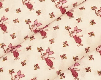 Winnie The Pooh and Friends - Piglet Design - 100% cotton print fabric