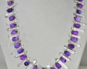 Faceted Amethyst and crystal