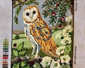 Needlepoint Tapestry - Barn Owl
