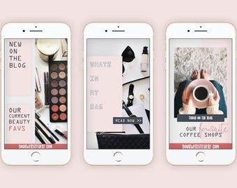 Social Media Templates for Bloggers, Instagram Templates, Pinterest Templates, Pinterest Pins Instant Download for Photoshop