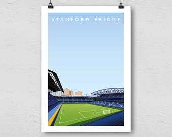 Chelsea FC Stamford Bridge A3 Poster