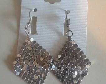 Vintage Silver Tone Chandaler Earrings